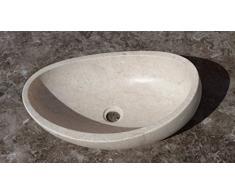 Konka-Lavabo de apoyo para el baño, diseño de mármol Perlatino de Sicilia