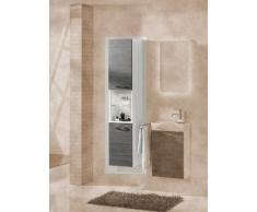Armario de pared de colour y de alto Vadea (cuerpo): de colour blanco, el colour (en la parte delantera): de madera de pino-de colour gris oscuro