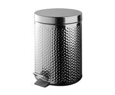 Papelera de baño (acero inoxidable, diseño 3 litros Design
