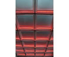 Light My cabina de ducha de pared de ladrillos de vidrio con iluminación