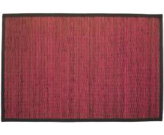 Gelco Design 703587 Bahia - Alfombrilla de baño (pequeñas láminas de bambú, 60 x 90 cm), color rosa