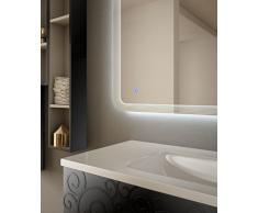 Arredobagnoecucine Mueble de baño suspendido Moderno Floral Miami Negro  Brillante 96a12af2f12d