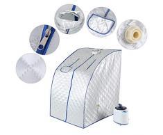 Duokon Portátil 2L Sauna de Vapor SPA Tienda de campaña Pot Pot Control Remoto Máquina Plegable Casa Vaporera Pérdida de Peso Detox Therapy(Plata)