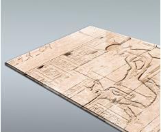 wandmotiv24 Cubierta Trasera de Ducha Pared del Templo de Hathor en Dendera 80 x 200 cm (W x H) - 4mm plexiglás Diseño de Pared de Ducha, sin Juntas. M0826