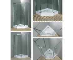 Cabina de ducha con Pentágono LXW-8900