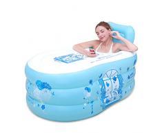 Baño práctico para niños adultos infantiles Bañera inflable de la sauna de la bañera que dobla la bañera de plástico del baño (ninguÌ n baño azul de la cubierta) los 150cm * 85cm * los 75cm QLM-Inflatable Bathtub and Inflatable plunge bath