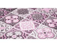 Azulejos cadorabo para cuarto de baño decoración de la pared Rosa adornos (con 32), 8 x 8 inches | 20 x 20 cm
