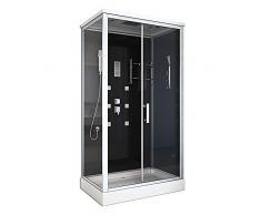 Cabina de ducha Home Deluxe, incluye los accesorios completos, 120x80x227cm