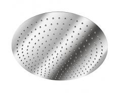 TecTake Alcachofa cabeza de ducha lluvia fija baño acero inoxidable - varios modelos - (Redonda Ø 40cm | no. 401603)