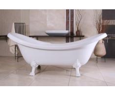 Independiente de baño de lujo Nouveau Venecia Negro / Blanco 2020 mm - cuarto de baño - Bañera barroco antiguo, retro