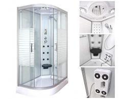 Home Deluxe Templo de ducha White Pearl, incluye Vapor Sauna y accesorios), 120x80cm links