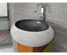 Bathco - Lavabo Bathco Sobre Encimera Piedra Fiji Negro 450X150