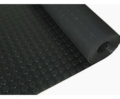 Piso de goma, moneda de rollo | 3mm de espesor | 1.5m de ancho | 3m de largo | antideslizante | alfombrilla para suelos de seguridad para garaje, taller, gimnasio, estable, Parque etc