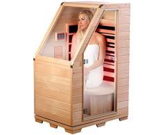 Newgen Medicals – Sauna para una persona, de infrarrojos, de madera, 760 W