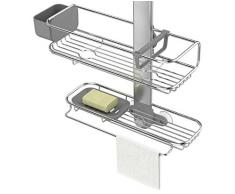 simplehuman bt1099 Almacenamiento de Ducha, Metal, Plata, 15.04 X 36.74 X 100.5 cm