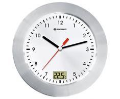 Bresser MyTime - Radio portátil con reloj para ducha, color plateado (importado)