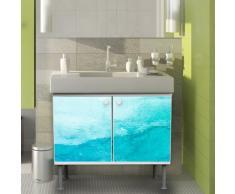 Lavabo mueble de baño mueble de baño 60 x 55 x 35 cm armario con diseño: acuarelas