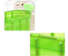Bañera de sauna de acero inoxidable soporte para aumentar la bañera plegable ( Color : Pink )