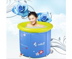 lfnrr inflable adulto plegable Sauna Spa hinchable bañera Tub bañera cubo, 65*70 (s), Azul