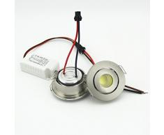 Focos COB con luces LED de 3 W, agujero pequeño, ajustables, tamaño 40-45 mm.