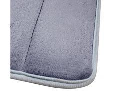 Malloom® Alfombras rayas verticales de espuma de memoria Alfombra de baño Alfombra Tapetes (gris)