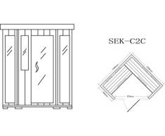 Cabina de infrarrojos/calor cabina/sauna – Esquina. Para 4 persona especial Acción
