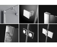 Essenza PDD® Mampara redondo ducha cuarto circular (cabina de ducha con ducha bañera |, 100 x 100 cm