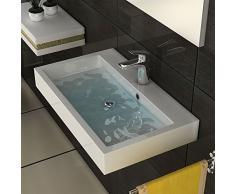 Diseño lavabo de mármol fundido lavabo lavabo lavabo cuadrado