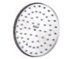 De Lanwa - Cabezal fijo de ducha circular (193 mm, acero inoxidable pulido)