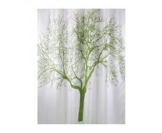 Bisk 04439 Cortina de ducha (180 x 200 cm), diseño de árbol, color blanco