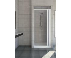 Puerta plegable de PVC cabina de ducha - 1 lado, abertura lateral 80 cm