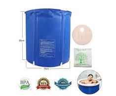 LONGLAN Bañera de plástico de PVC Bañera Inflable Caliente Sauna para Adultos Baño de Vapor Barra de baño Inflable Plegable Bañera Grande