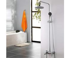 GZ Juego de Ducha All-Copper Shower Suite Ducha Doble Válvula mezcladora Circular para Ducha con Dos duchas