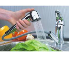 ADOB - Grifo de baja presión con manguera extensible para el aclarado, cromado