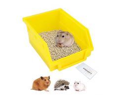 Amakunft Hámster Inodoro, Caja de plástico para Mascotas, Sauna, bañera, bañera, Bandeja de Arena para hámster, Erizo, gerbio y Otros Animales pequeños (Color al Azar)