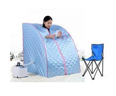 Portable Sauna de Vapór Portátil Silla Spa infrarroja - Azul Joshnese