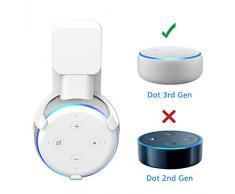 Soporte para Dot (3.ª generación) Wigoo, gestión de Cables incorporada sin Tornillos, Estuche Compacto en cocinas, baño y Dormitorio - Blanco