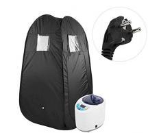 YCX Sauna de Vapor portátil máquina de Sauna Tienda de Mando a Distancia para la Terapia de la pérdida de Peso del Cuidado médico,Negro