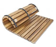 Tarima / Alfombrilla FLEXIBLE para ducha y baño, en madera de teca (50 x 50 cm)