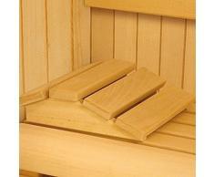 Reposacabezas hecha de madera Abachi para sauna