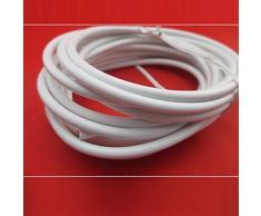 Nuevo 4 METER Cable para cortina con 16 ganchos y ojetes accesorios blanco colores Ideal para Windows para puerta de ducha Caravan anilla de voilà tornillo barra de Cable de red cm cuerdas de pantalla