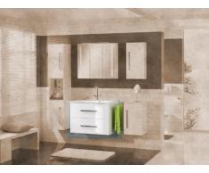 Lavabo Armario Lugano/como color (frontal): Blanco, color (estructura): pino Antracita