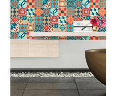 Ambiance-Live Cuadros de Cemento Adhesivos para Pared, Azulejos, 20x 20cm,16Piezas