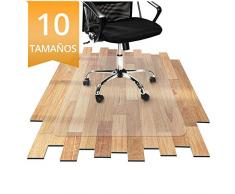 OfficeMarshal Protector Escritorio Transparente - Alfombra Oficina para Silla con Ruedas | Uso para Suelo Duro | PVC | Muchos tamaños (75x120 cm)