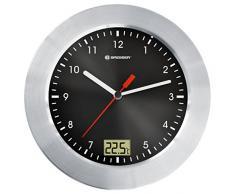 Bresser MyTime - Radio portátil con reloj para ducha, color negro (importado)