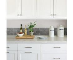 FHB FDB50028 Ceramica piedra azulejos de cocina y baño autoadhesivas para cenefa adhesiva - Slate