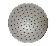 Accesorios de baño Ducha de ducha circular fija de 8 pulgadas con rótula de metal plateada pulida 8 pulgadas redonda