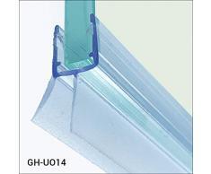 Glass House Sello en forma de pluma para cabina de ducha GH-UO14 Sello para vidrio de 6-8 mm de longitud 100 cm, hecho de silicona de la más alta calidad resistente a la humedad y al moho