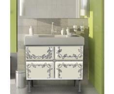 Lavabo mueble de baño mueble de baño 60 x 55 x 35 cm armario con diseño: azulejos