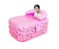 WHH Adulto plegable inflable bañera/Sauna/Baño de barril barril barril y bañera de baño niños , pink